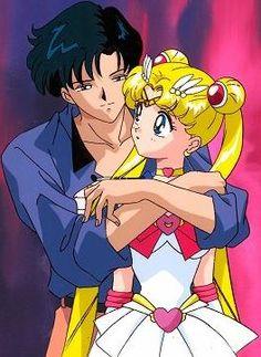 """Sailor Moon SuperS The Movie: Black Dream Hole"" - Mamoru and Super Sailor Moon."