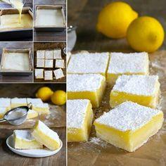 Gluten free lemon blocks