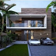 modern house design ideas 2019 Over the most recent years house designs have changed quite. Most new home owners like to opt for a more modern house designs, rather than traditional. Bungalow House Design, House Front Design, Modern House Design, Luxury Modern House, House Design Plans, House Architecture Styles, Interior Architecture, Luxury House Plans, Modern House Plans