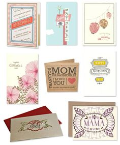 mother's day cards, love the middle one