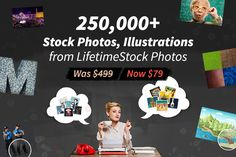 """Top Stock deals: ••LifeTimeStock•• """"""""World's First Interactive Stock"""" • $79/$499 lifetime! MightyDeal discount exp. 2017-03-08 (-84%!) • 250,000+ stock photos/illustrations/graphics/ paintings incl. isolated PNGs / icons / semi-transparent drinks / concept illustrations / megapixel / macro-detailed textures / photoshop masks & shadows / vectors / 3D models (soon) / interactive (replace/resize/crop/filters) • royalty free restrictions: resell / include in software products / web / doc…"""