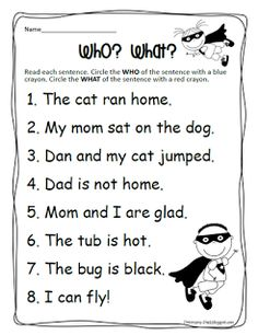 Peterson's Pad: What is a Sentence freebie
