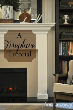 Good ideas for building a mantel for the fireplace.