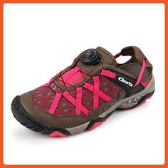 Clorts Women's Boa Seaside Amphibious Athletic Pull On Water Shoe Hiking Water Sneaker Pink 3H017C US9 - Athletic shoes for women (*Amazon Partner-Link)