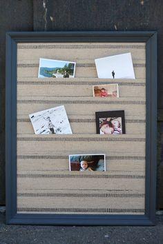 Handmade Jute Webbing Photo Display Board Jute Photo by ShopWalrus