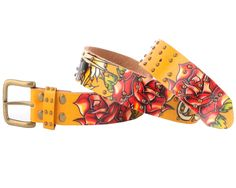 26-28 Waisted!Heart Punch 2-Pack Skinny Belts red
