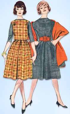 1950s Vintage Butterick Sewing Pattern 9065 Uncut Misses Easy Dress Size 36 Bust