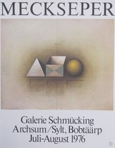 Galerie Schmucking 3 Figures original poster by Mecksperer