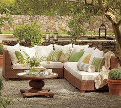Muebles de mimbre para exterior