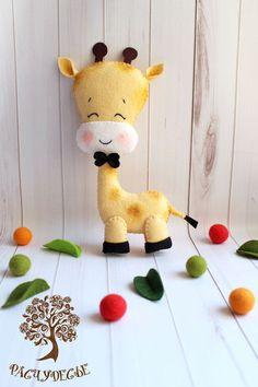 """Игрушки животные, ручной работы. Заказать Игровая игрушка из фетра """"Жираф"""". Расчудесье. Ярмарка Мастеров. Фетровая игрушка, текстильная игрушка"""