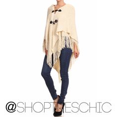| Link in Bio | Perfect for FALL   #shoptreschic #ishoptreschic #onlineboutique #moda #fashion #fashionblogger #fashionistas #style #instashop #acessories #fall #poncho #sweater  #boutique #glam #november #vogue  | Shop this product here: spree.to/a63z | Shop all of our products at http://spreesy.com/JewelsByScarlett    | Pinterest selling powered by Spreesy.com