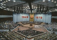 Ceremony marking DDR's 30th anniversary in East Berlin.