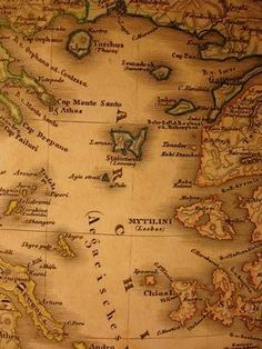 Old Map of Lemnos and Lesbos Greek Islands Map, Island Map, Greece Map, Old Maps, Sim, Vintage World Maps, Cards, Map Of Greek Islands, Antique Maps