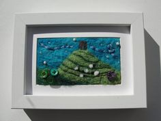 The Sheep on Glastonbury Tor  needle felt by ThePaintingTree