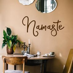 Namaste | Wall Quote – Adnil Creations