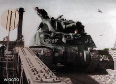 Colorizations By Users - Polish AD - debarkation Normandy, North Africa, Division, World War, Poland, Tanks, Britain, Europe, Military