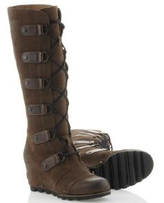 Now here's a pair of boots worthy of winter and investing in ... #Sorrel Joan of Arcitic #Wedge #Boots!  At $270.00 (with free shipping),