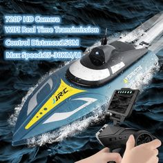 WIFI FPV Vedio RC Racing Speedboat 2.4G 30KM/H 720P Camera Double Waterproof High Speed RC Ship radio controToy Gift VS FT011  Price: 127.00 & FREE Shipping  #tech|#electronics|#gadgets|#lifestyle Boat Battery, Landing Craft, Shipping Packaging, Water Cooling, Workout Machines, Speed Boats, Natural Disasters, Taking Pictures, High Speed