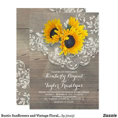 Rustic Sunflowers Wood Lace Baby Shower Card Vintage lace and rustic sunflowers bouquet elegant barn baby shower invitations Barn Wedding Invitations, Sunflower Wedding Invitations, Engagement Party Invitations, Vintage Wedding Invitations, Rustic Invitations, Bridal Shower Invitations, Wedding Programs, Sunflower Weddings, Wedding Venues