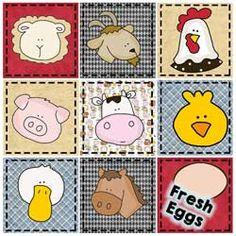 Farm Faces Pattern