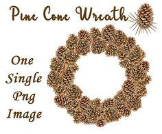 pine cone wreath pine cone clipart wreath clipart
