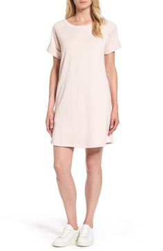 Main Image - Caslon® French Terry Shift Dress (Regular & Petite)