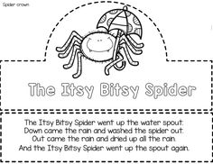 These activities can be used additional activities for the Itsy Bitsy Spider or for easy prep sub plans. You will need to print activities provide a full days resource for your class.