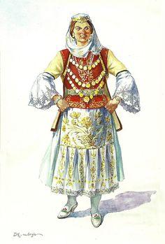 Veshje nga Dropulli 2008 Shqipëria, mozaiku i veshjes (Dhimitër Mborja)