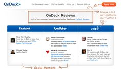 Example 3 – OnDeck - Testimonials Page