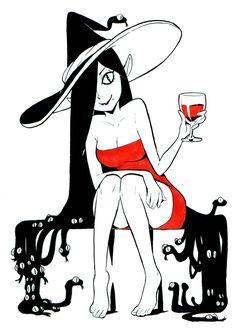 Here we go again : inktober 2018 ! Dibujos Dark, Marceline And Princess Bubblegum, Vampire Girls, Modern Witch, Witch Art, Halloween Art, Looks Cool, Dark Art, Inktober