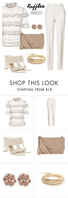 """""""Untitled #447"""" by tjclay3 ❤ liked on Polyvore featuring Jil Sander, Alexander McQueen, Vivienne Westwood, Suzanne Kalan, South Moon Under and ruffledtops"""