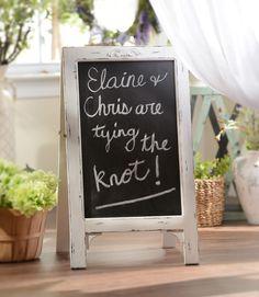 Simple Whitewashed Chalkboard Easel | Kirklands