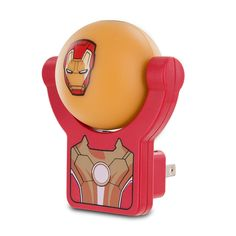 Marvel's Iron Man 3 Projectables LED Plug-In Night Light If your child is scared of the dark, don't just give them a night light. Instead, give them the Marvel's Iron Man 3 Projectables LED Plug-In Night Light. This night light plugs directly into your child's wall outlet and projects an image of Iron Man from Marvel's Iron Man 3. Plus, the globe glows a soft yellow for just the right amount of nighttime light.