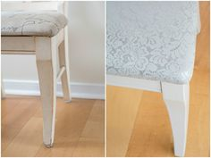 Learn how to reupholster a chair cushion. It's an easy process that sounds a lot harder than it is! Learn the simple steps to do it yourself.