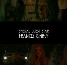 It was so great to see her back on the show 🌲 AHS:Roanoke. American Horror Story, Roanoke Nightmare, Frances Conroy, Ahs, Best Shows Ever, Special Guest, Thriller, Movies, American Horror Stories