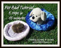 Pet Bed Tutorial - anyone can sew this in just 5 steps and 15 minutes