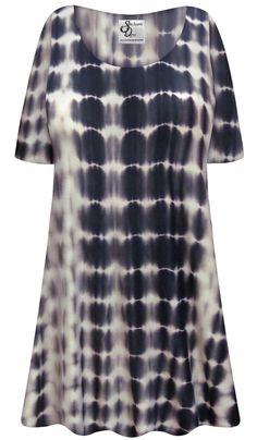 Sanctuarie Designs Plus Size Dress Princess Seam Soft Rayon Blend Cotton Power Paisley