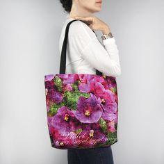 Birthday Blossom Tote Bag - February Violet