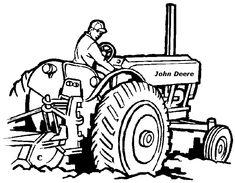 Kleurplaat Tractor Deutz / Traktor Malvorlage