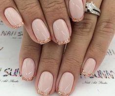 Shellac Nail Designs, Gold Nail Designs, French Manicure Designs, French Tip Nails, Acrylic Nail Designs, Acrylic Nails, Nails Design, French Manicures, Glitter French Nails