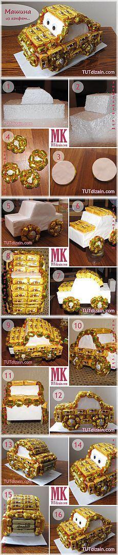 Машинка из конфет:
