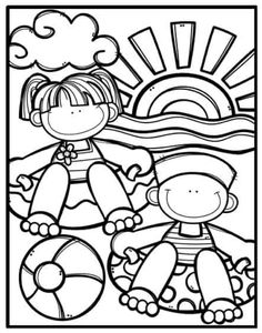 Angel Coloring Pages, Summer Coloring Pages, Coloring Book Art, Colouring Pages, Coloring Pages For Kids, Coloring Sheets, Tatty Teddy, Ocean Themes, Color Activities