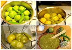 authentic mexican salsa Easy Homemade Salsa verde, made with tomatillos, serrano o jalapeo peppers. This authenticMexicansalsa is the way we make it in Mexico. Authentic Mexican Recipes, Mexican Salsa Recipes, Guatemalan Recipes, Mexican Dishes, Mexican Meals, Tomatillo Salsa Verde, Tomatillo Sauce, Verde Sauce, Salsa Verde Recipe