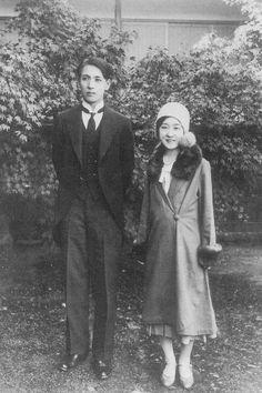 The last princess of Joseon dynasty, Deokhye and her Japanese husband Takeyuki So ,1931