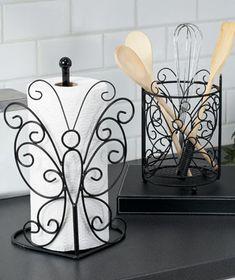 Iron Furniture, Steel Furniture, Kitchen Themes, Kitchen Sets, Kitchen Organization Pantry, Butterfly Decorations, Iron Decor, Kitchen Collection, Farmhouse Kitchen Decor