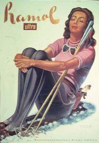 1940, Hamol ultra ( sun lotion ) poster by Viktor Rutz