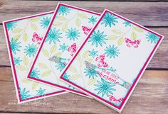 Stampin' Up! UK Feeling Crafty - Bekka Prideaux Stampin' Up! UK Independent Demonstrator: Grateful Bunch Team Recognition Cards and a fun use of the Bow Builder Punch