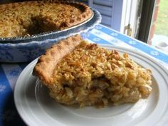 """Old-Fashioned Oatmeal Pie from """"The Southern Lady Cooks!"""" This looks interesting! Pie Recipes, Sweet Recipes, Dessert Recipes, Cooking Recipes, Recipies, Dessert Ideas, Yummy Recipes, Healthy Recipes, Oatmeal Pie"""