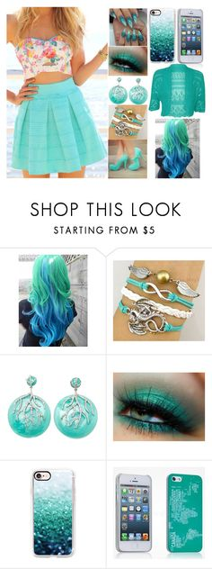 """""""My nails match my hair!"""" by kiara-fleming ❤ liked on Polyvore featuring Miriam Salat, Casetify and WearAll"""