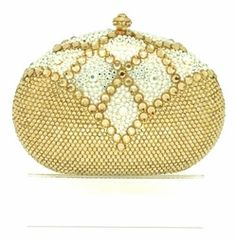 Venus - Gorgeous goddess gold Swarovski crystal evening purse